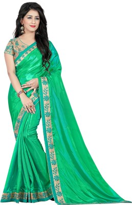 Siddeshwary Fab Embroidered Bollywood Silk Saree(Multicolor) at flipkart