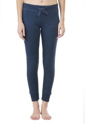 Wake Up Competition Solid Women's Dark Blue Track Pants at flipkart