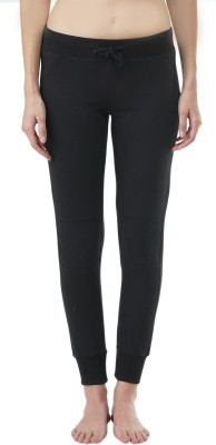 Wake Up Competition Solid Women's Black Track Pants at flipkart