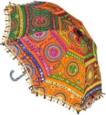 Lal Haveli Cotton Kids Size Sun Umbrella(Multicolor)