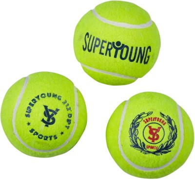 SuperYoung Indoor outdoor Tennis Ball - Size: NA(Pack of 3, Green)