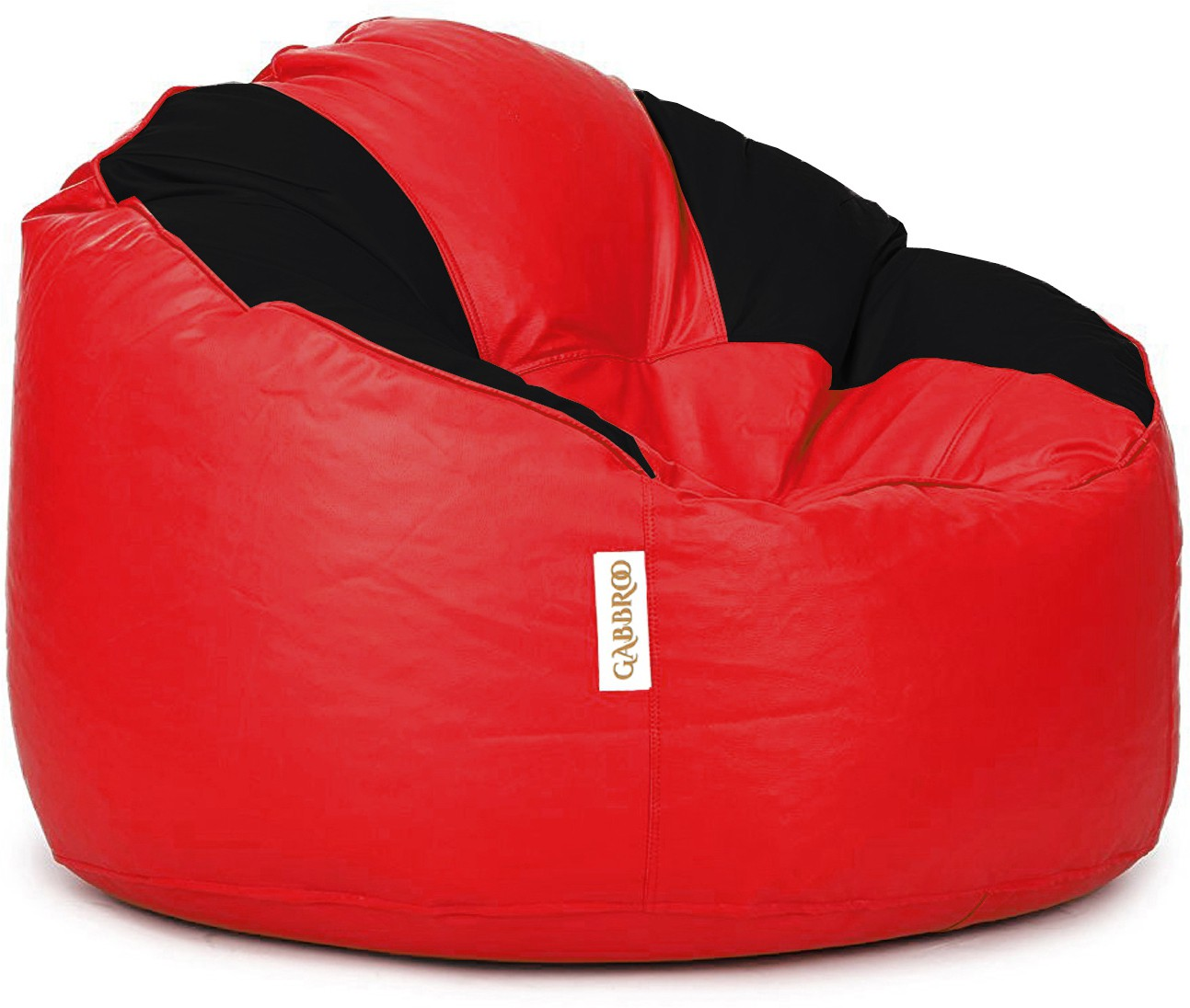View Gabbroo XXL Lounger Bean Bag Cover(Red, Black) Furniture (StyleCraft)