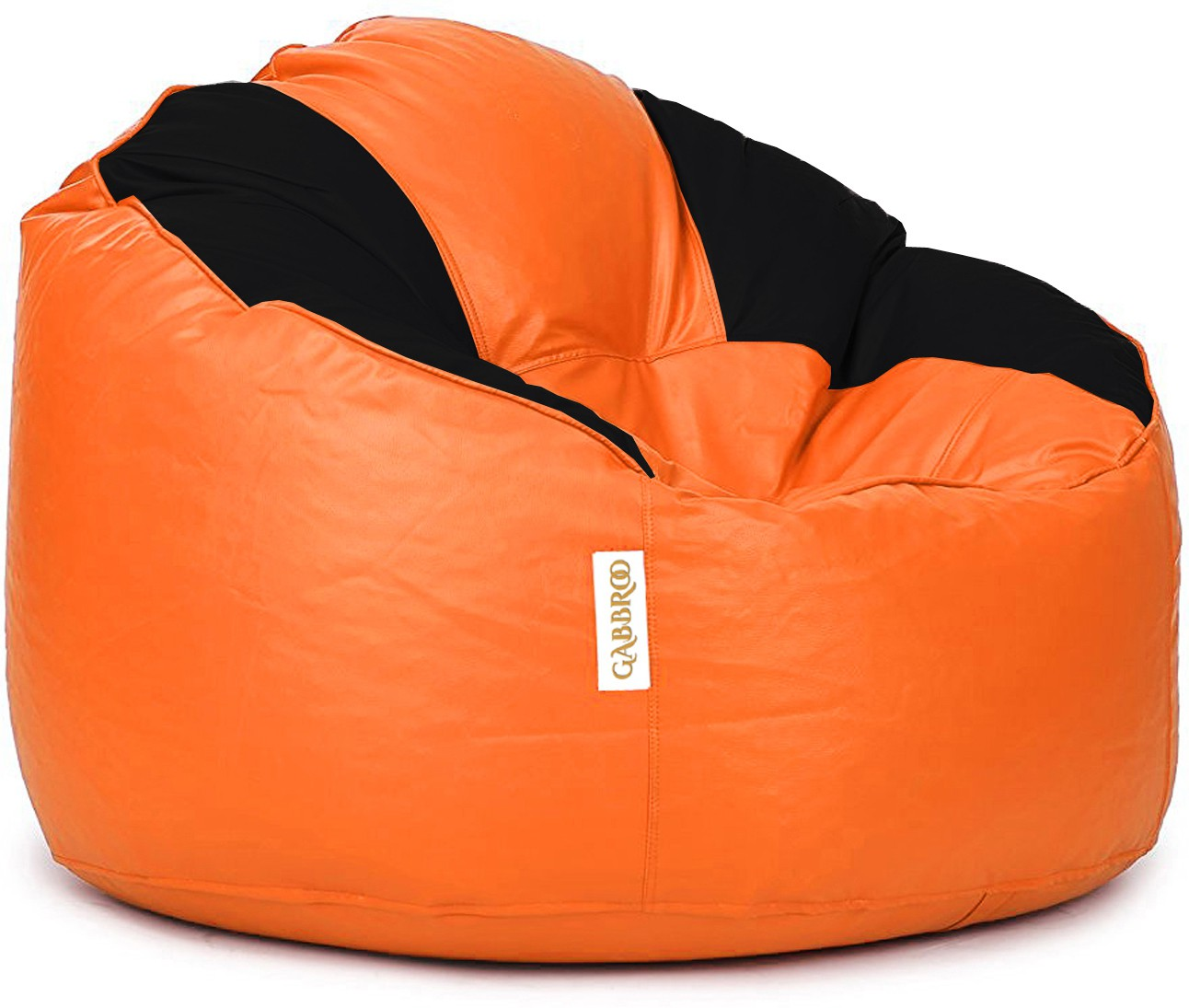 View Gabbroo XXXL Lounger Bean Bag Cover(Orange, Black) Furniture (StyleCraft)