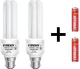 Eveready 15 W B22 CFL Bulb (White, Pack ...