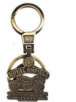 Tech Pro Golden Colour Royal Bike Locking Key Chain(Multicolor)