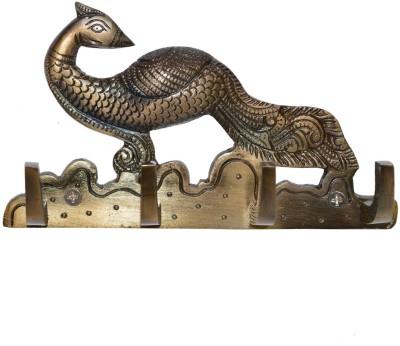 Aakrati Decorative Metal Designer Key Holder Aluminium Key Holder(3 Hooks, Black)