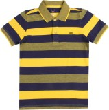 Allen Solly Junior Boys Striped Cotton (...