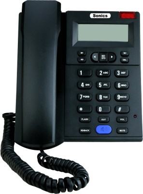 Sonics SS-517 Corded Landline Phone(Black)