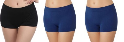 Bahucharaji Creation Women's Boy Short Black, Blue Panty(Pack of 3) at flipkart