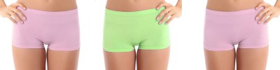 Bahucharaji Creation Women's Boy Short Pink, Green Panty(Pack of 3) at flipkart