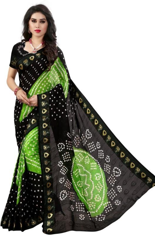 svb sarees Embellished Bandhani Cotton Saree(Multicolor)