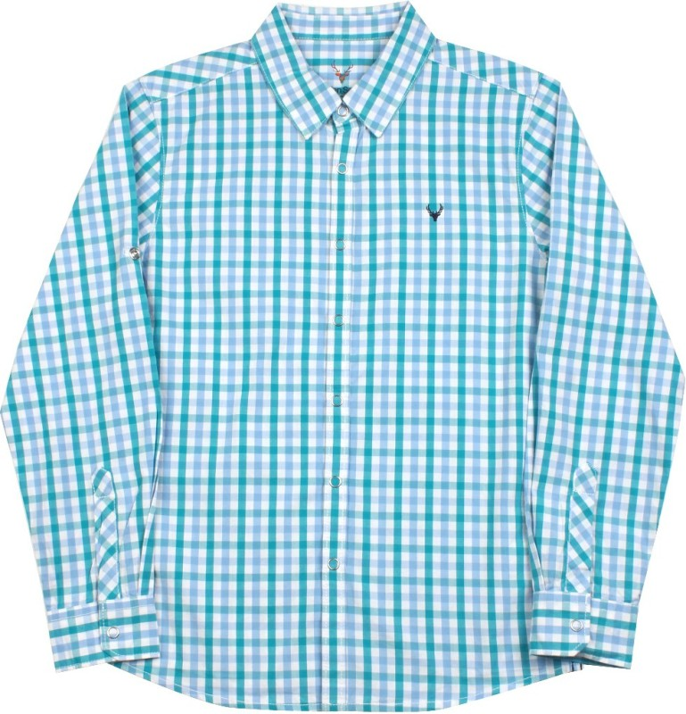 Allen Solly Junior Boys Checkered Casual Shirt