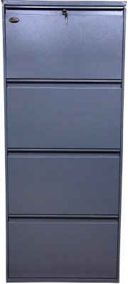 Clever Steel Shoe Cabinet(Grey, 4 Shelves)