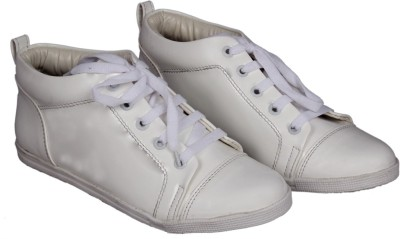 Footshez Womens White Elegant Fashionable Snickers Shoes Casuals(White)