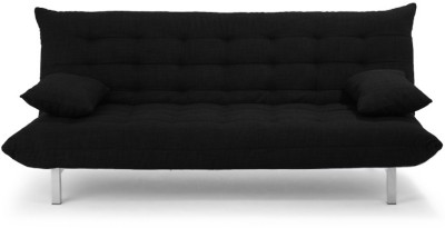 Furny Madison Double Fabric Sofa Bed(Finish Color - Black Mechanism Type - Fold Out)