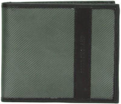 Peter England Men Black, Grey Artificial Leather Wallet(4 Card Slots)