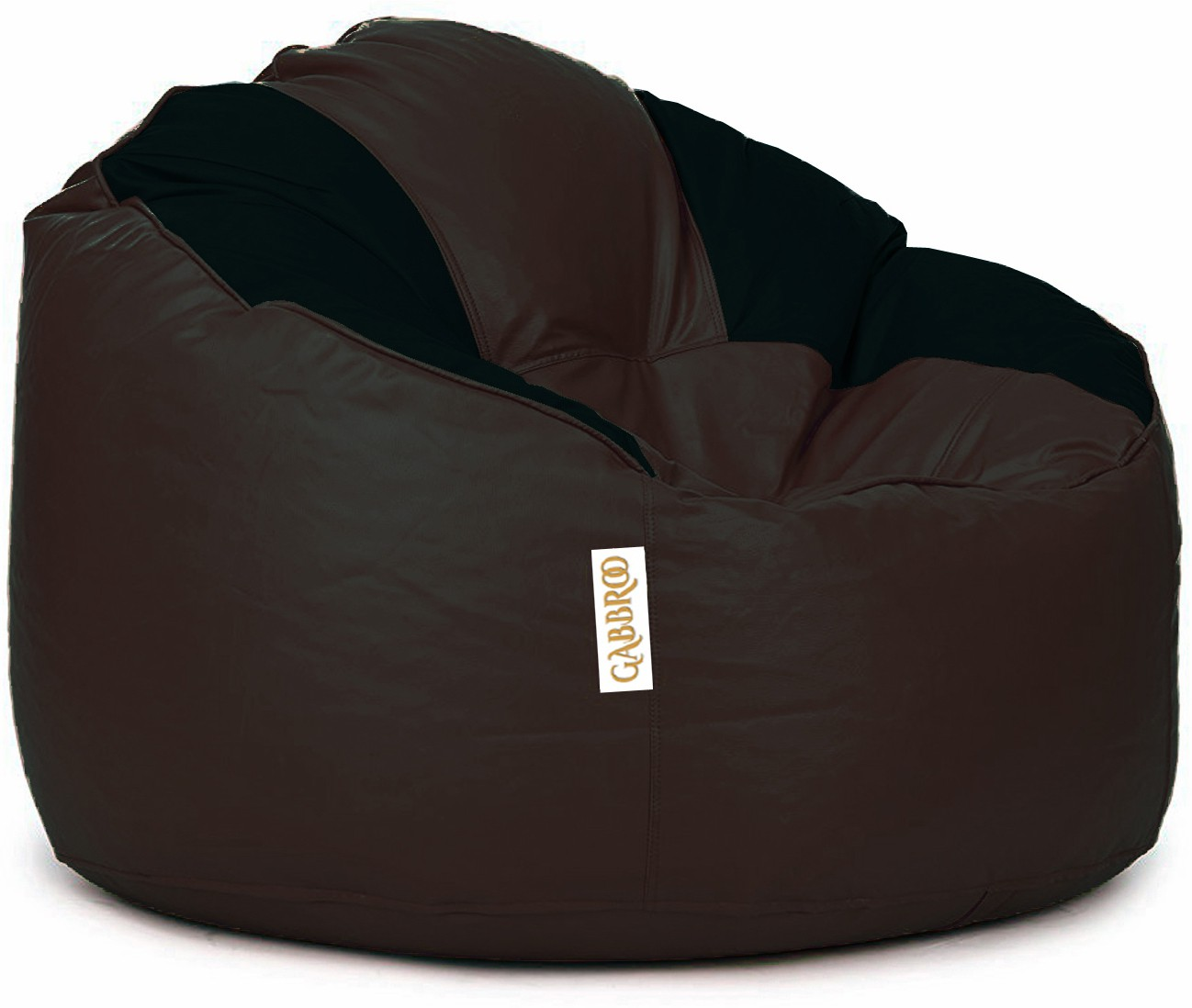 View Gabbroo XL Lounger Bean Bag Cover(Brown, Black) Furniture (StyleCraft)