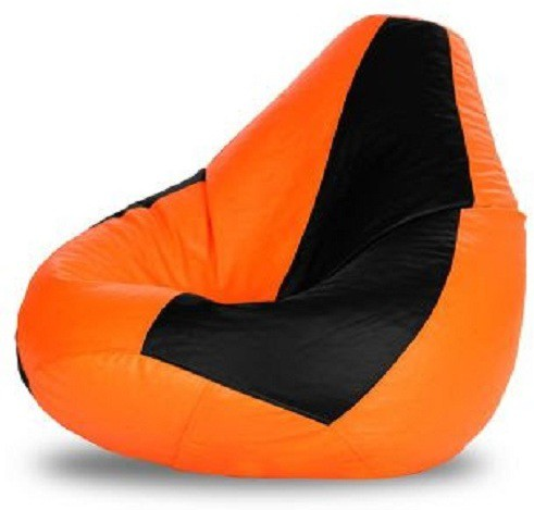 View Sultan XXL Bean Bag Cover(Orange, Black) Furniture (Sultan)