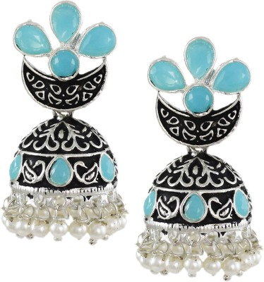 Zaveri Pearls Dark Antique Zinc Jhumki Earring at flipkart