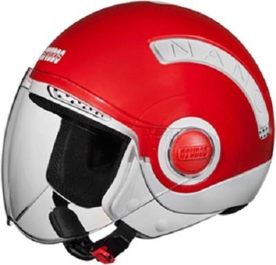 Studds Nano560 Motorsports Helmet(White, Red)