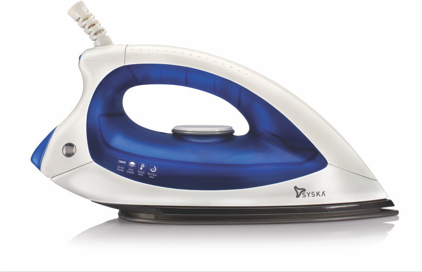 View Syska Magic SDI-15D Dry Iron(White, Blue) Home Appliances Price Online(Syska)