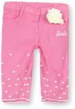 Barbie Capri For Girls Embroidered Cotto...