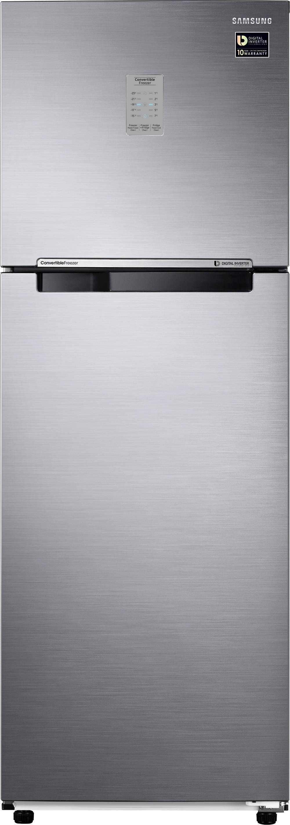 View SAMSUNG 345 L Frost Free Double Door Refrigerator(RT37M3743S8, Elegant Inox, 2017)  Price Online