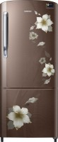 Samsung 192 L Direct Cool Single Door Refrigerator(RR20M272YD2/NL,RR20M172YD2/HL, Star Flower brown, 2017)
