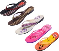 Indistar Women Purple::Brown::Red:Black ::Orange:Yellow::Pink Sandals