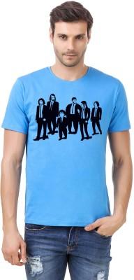 Irongrit Printed Men's Round Neck Light Blue T-Shirt