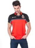RCB Solid Men's Mandarin Collar Red T-Sh...