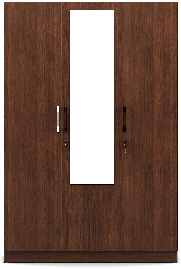 View Spacewood Engineered Wood 3 Door Wardrobe Finish Color   Walnut  Rigato  Mirror Included. Spacewood Furniture Price in Indian Major Cities Chennai