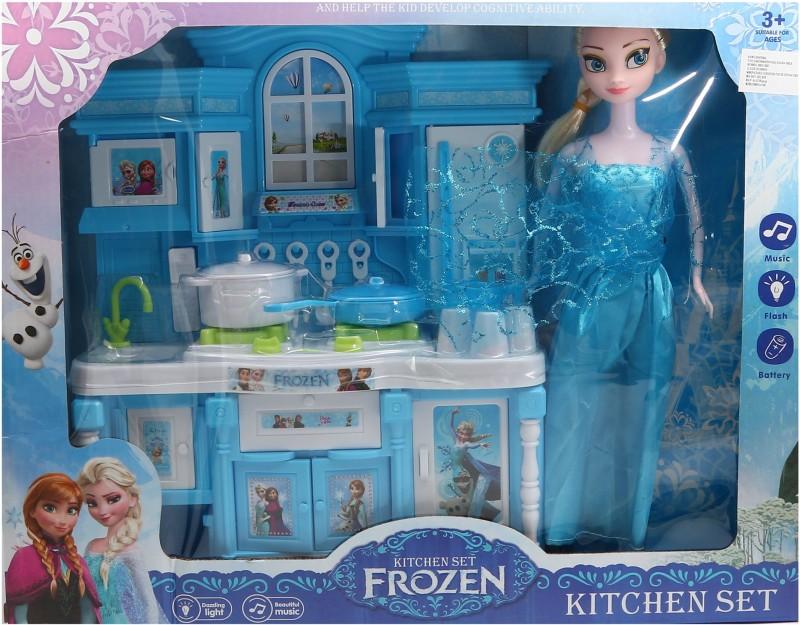 Wishkey Frozen Kitchen Set With Dazzling Light & Beautiful Music(Multicolor)