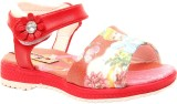 Foot Candy Girls Slip-on Flats (Red)