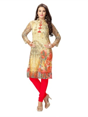 Elevate Women Festive & Party Printed Women's Kurti(Multicolor) at flipkart