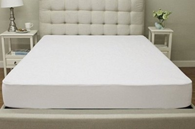 Lithara Elastic Strap Single Size Mattress Protector(White)