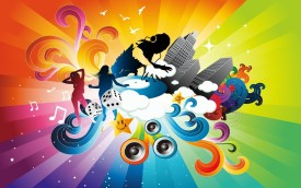 AnanyaDesignscolorful-music Wall Poster Paper Print(12 inch X 18 inch, Rolled)