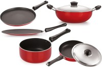 NIRLON Cookware Set Tawa, Pan, Kadhai Set(PTFE (Non-stick), Aluminium, Non-stick)