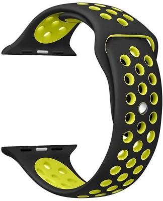 i10 iWatch 38mm Black Yellow Smart Watch Strap(Black, Yellow)