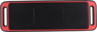Yuvan BS - 113 FM USB SD Portable Bluetooth Mobile/Tablet Speaker(Red, Stereo Channel)