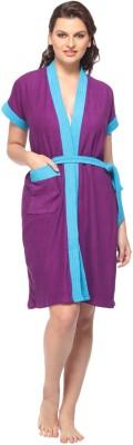 Vixenwrap Purple Free Size Bath Robe(1 Bath Robe, 1 Belt, For: Women, Purple)