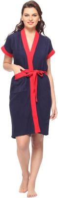 Vixenwrap Indigo Blue Free Size Bath Robe(1 Bath Robe, 1 Belt, For: Women, Indigo Blue)