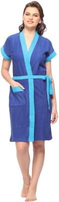 Vixenwrap Berry Blue Free Size Bath Robe(1 Bath Robe, 1 Belt, For: Women, Berry Blue)
