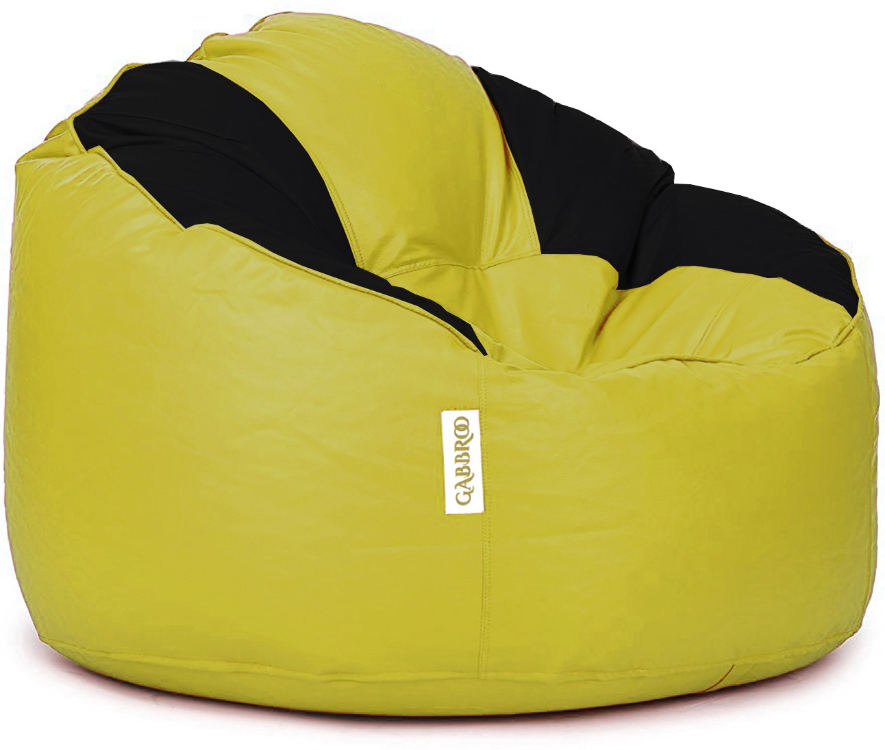 View Gabbroo XXXL Lounger Bean Bag Cover(Yellow, Black) Furniture (StyleCraft)