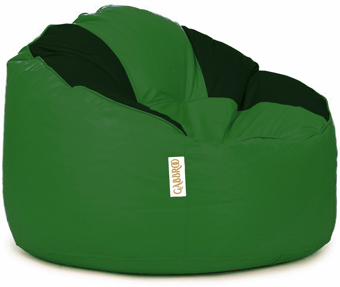 View Gabbroo XL Lounger Bean Bag Cover(Green, Black) Furniture (StyleCraft)