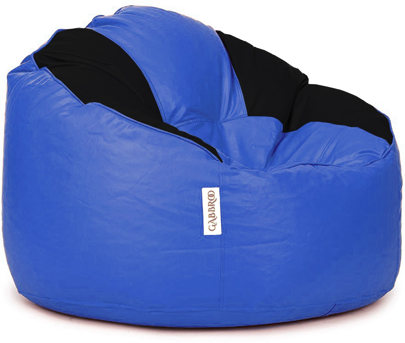 View Gabbroo XL Lounger Bean Bag Cover(Blue, Black) Furniture (StyleCraft)