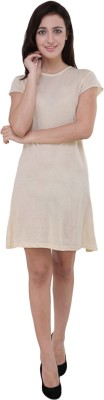 Pop Cherry Womens Gathered Beige Dress