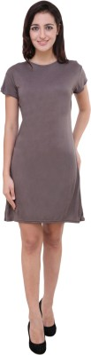 Pop Cherry Womens Gathered Grey Dress