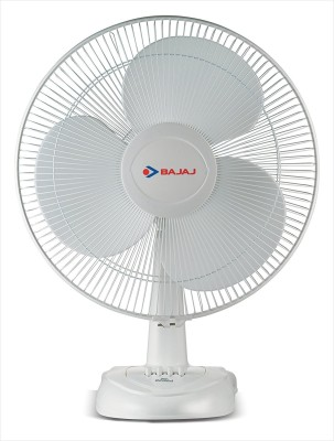 Bajaj Esteem Table Fan 400 mm 3 Blade Table Fan(White)