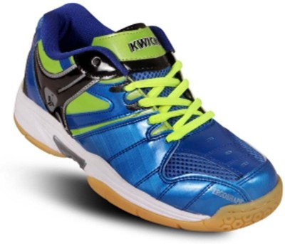 Kwickk Boys & Girls Lace Badminton Shoes(Blue)